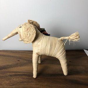 Handmade in Africa Cute Raffia Elephant Boho